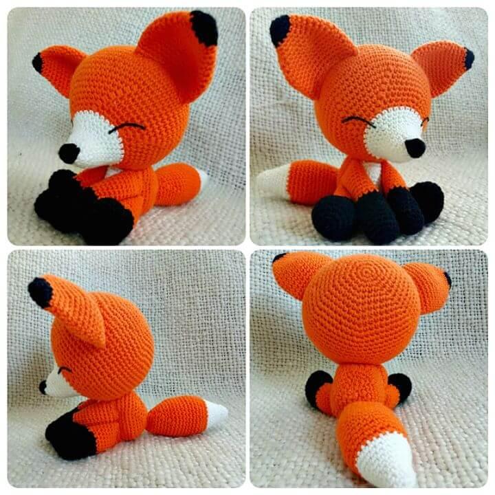 Crochet Sleepy Fox - Patrón gratuito