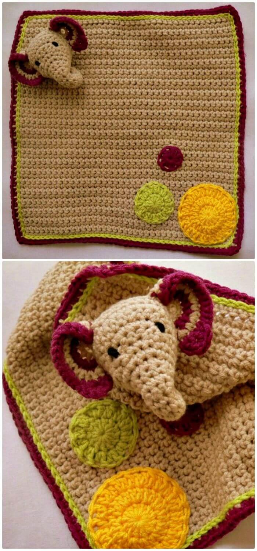 Patrón Lovie de elefante de ganchillo fácil y gratuito