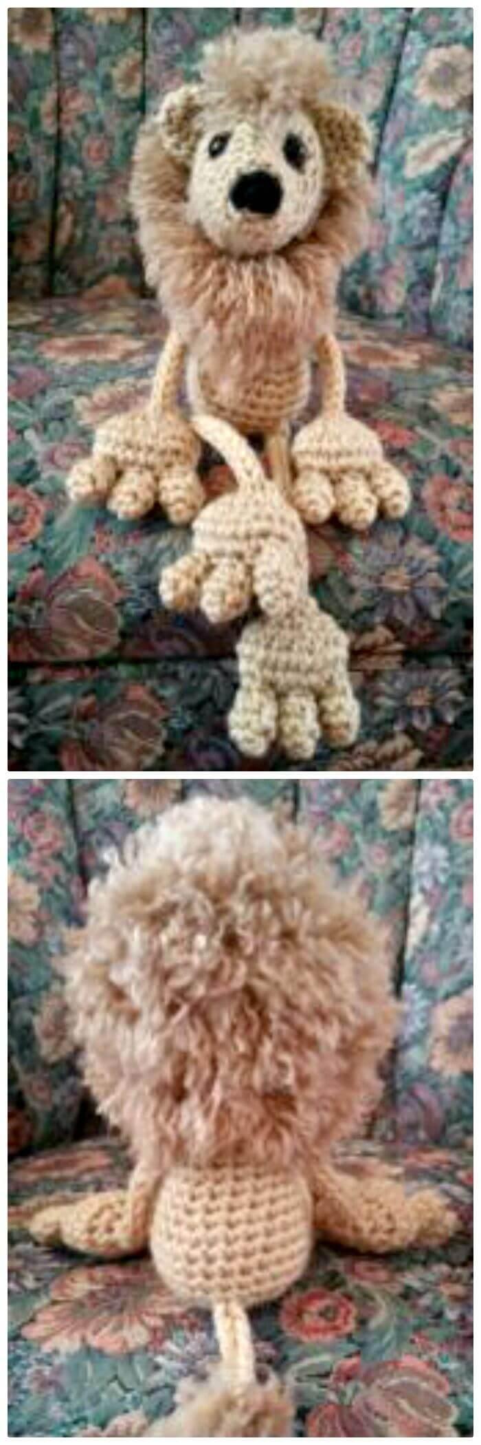 Cómo tejer a crochet Floppy Lion Amigurumi Free Pattern