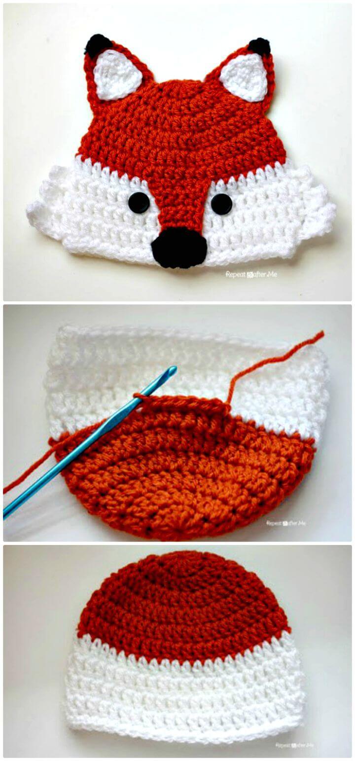 Sombrero de zorro de ganchillo: un patrón gratuito