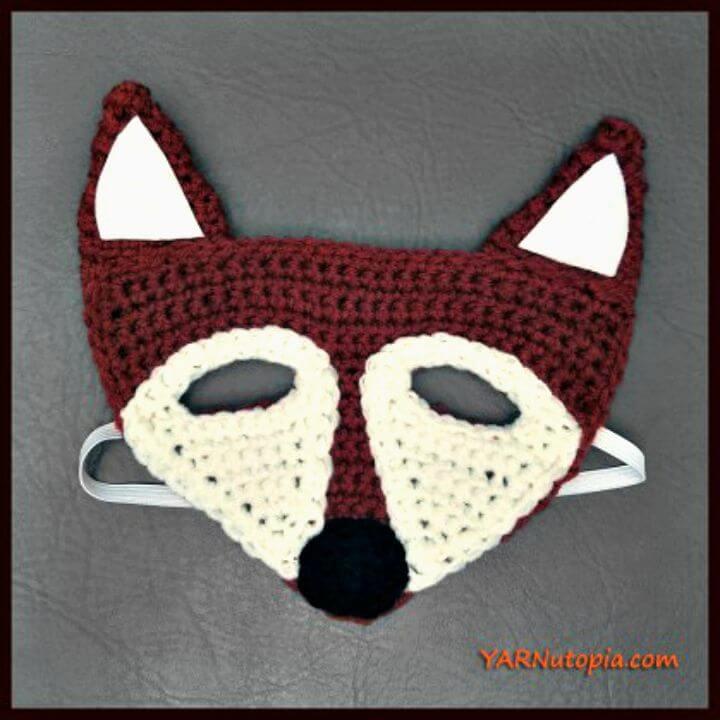 Máscara de zorro de ganchillo - Patrón gratuito