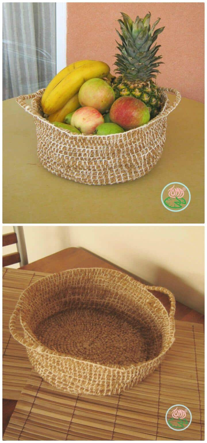 Patrón de canasta de frutas de ganchillo gratis