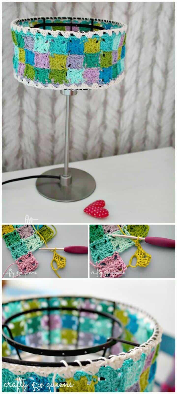 Pantalla de collage de abuelita de ganchillo fácil - Patrón gratuito