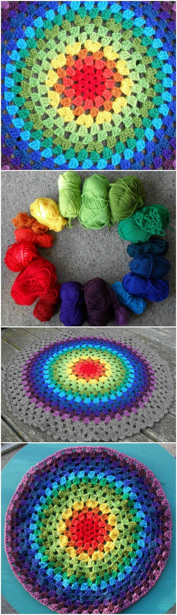 super hermoso crochet granny mandala
