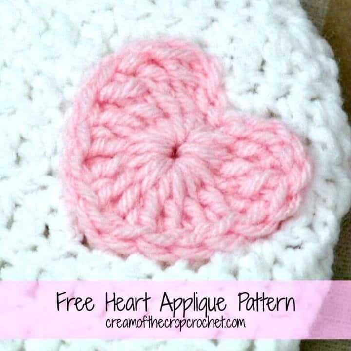 How To Crochet Heart Applique – Free Pattern