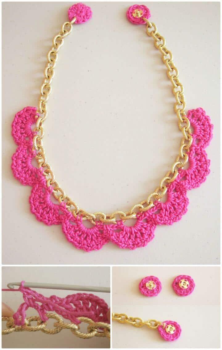 Crochet gratis fácil en un patrón de cadena