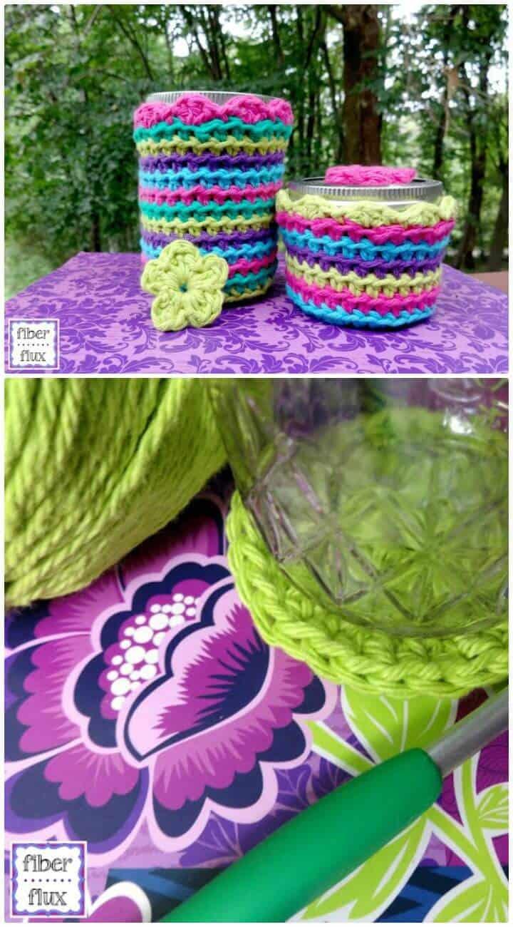 Cómo tejer tapas de tarros de gelatina en crochet - Patrón gratuito