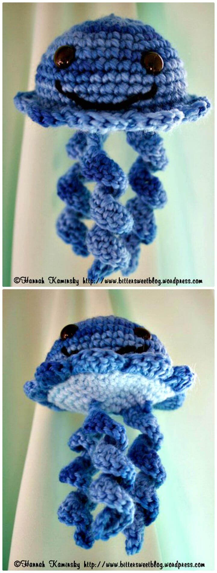 Cómo tejer mermelada de medusas a crochet - patrón gratuito