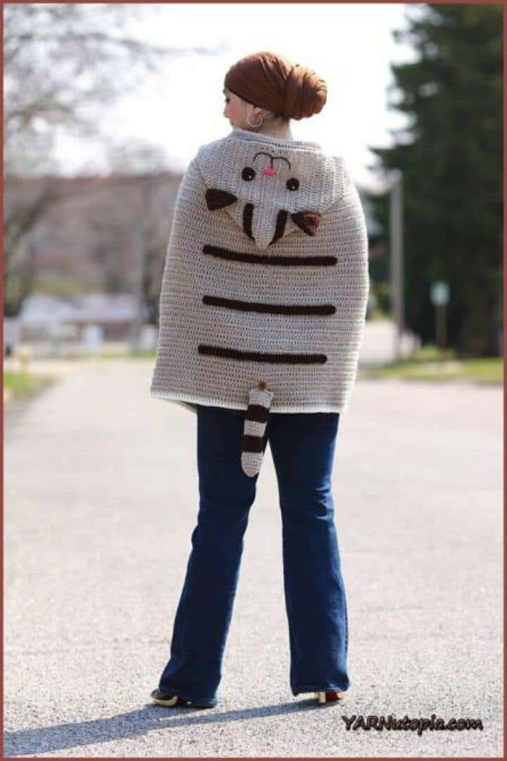 Poncho Crochet Kitty Cat - Patrón Paso a Paso Gratis