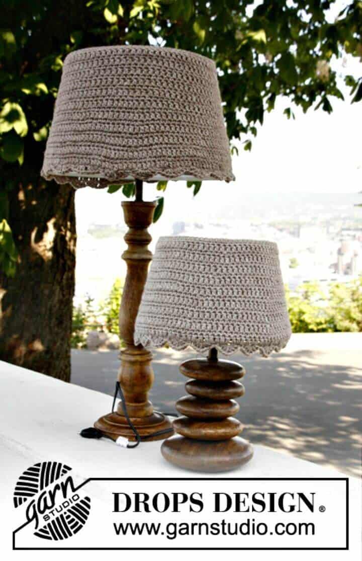 Cubiertas de pantalla de lámpara de ganchillo fáciles - Patrón gratuito