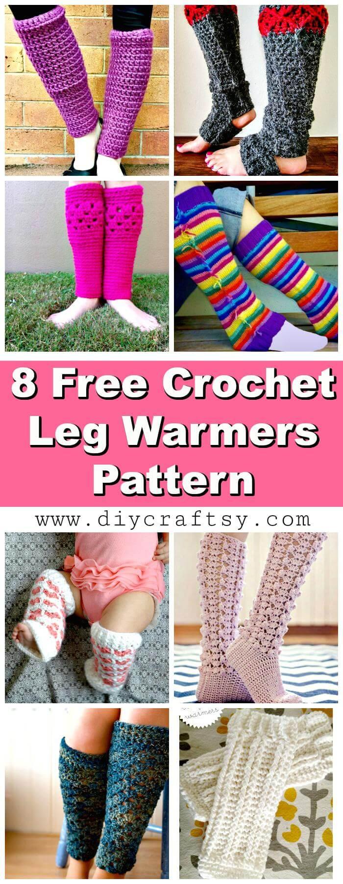 Calentadores de piernas de ganchillo - 8 patrones de calentadores de piernas de ganchillo gratis - Crochet
