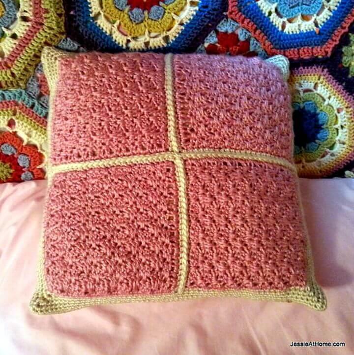Cómo tejer una almohada de ganchillo para pequeños abanicos - Patrón gratuito