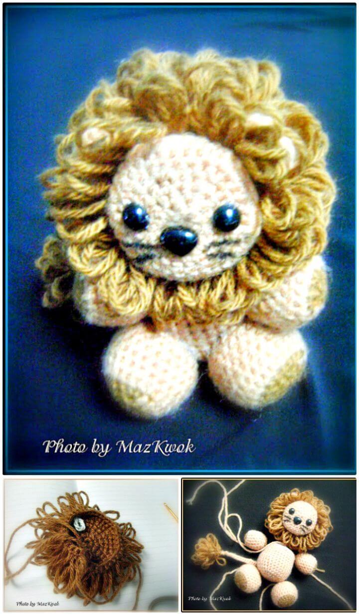 Patrón amigurumi de leoncito a crochet gratis