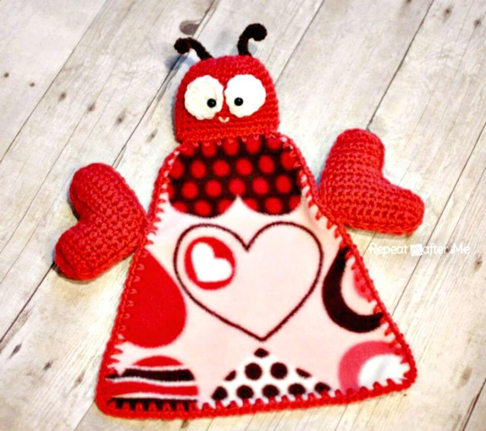 Cómo tejer una manta de ganchillo Love Bug Lovey - Patrón gratuito