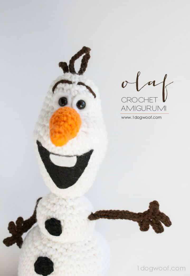 Cómo tejer a Lovey Olaf de Frozen - Patrón amigurumi