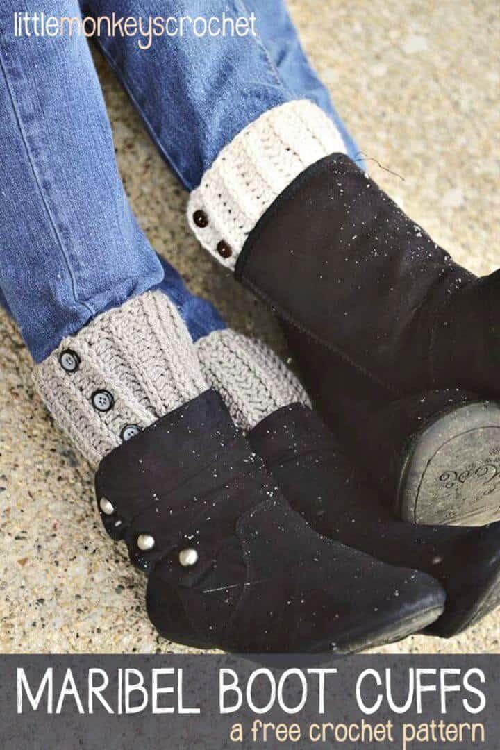Cómo tejer los puños de las botas Maribel a ganchillo - Patrón libre