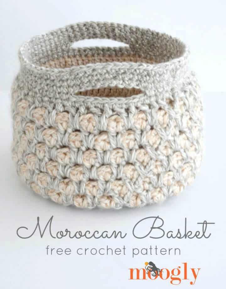 Patrón de canasta marroquí de ganchillo gratis