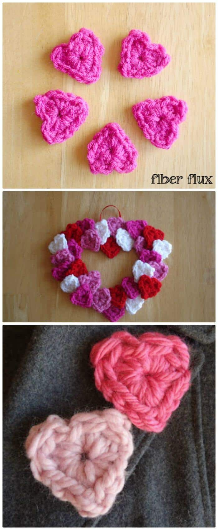 Free Crochet One Round Hearts - Free Pattern