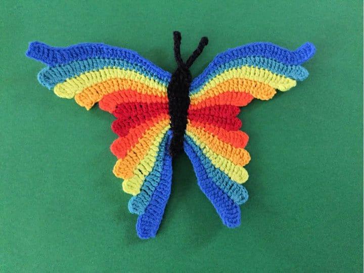 Patrón de ganchillo para una mariposa