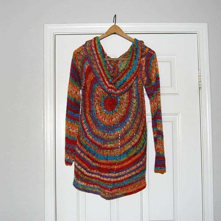 Jersey Crochet Molinillo - Patrón Circular Chaleco Libre