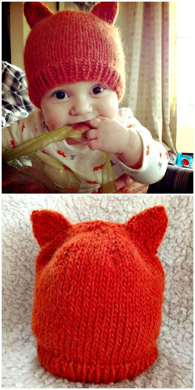 Patrón de sombrero de zorro bebé de ganchillo gratis