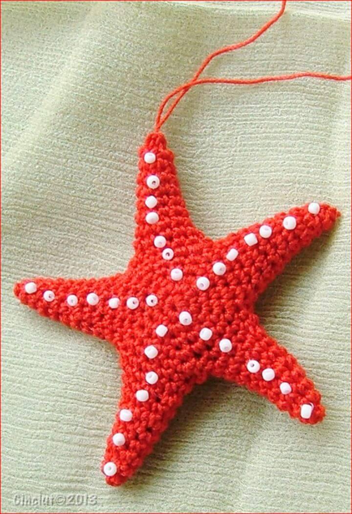Patrón amigurumi de estrella de mar de ganchillo gratis