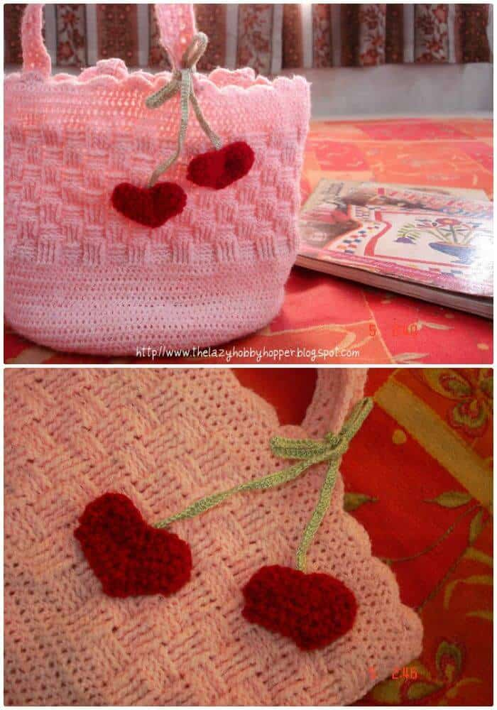 How To Crochet Sweet Heart Bag - Free Valentine Day Pattern