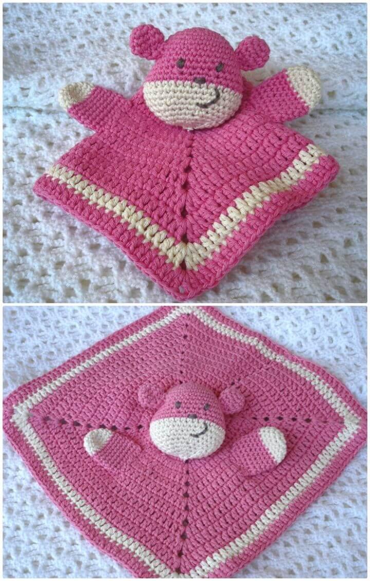 Cómo crochet Teddy Doudou Lovey - Patrón gratuito