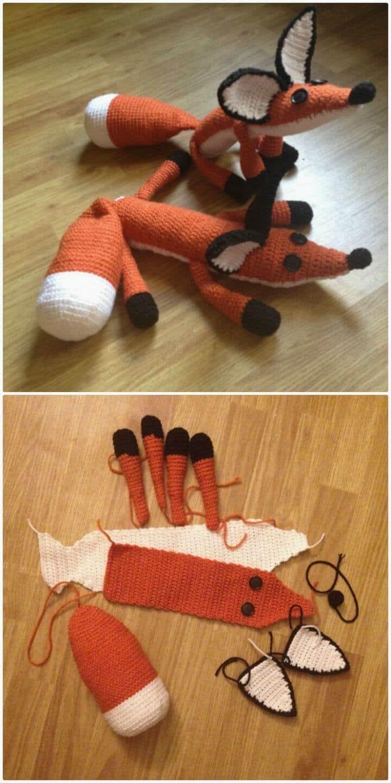 Crochet The Fox Plush del Principito - Patrón gratuito