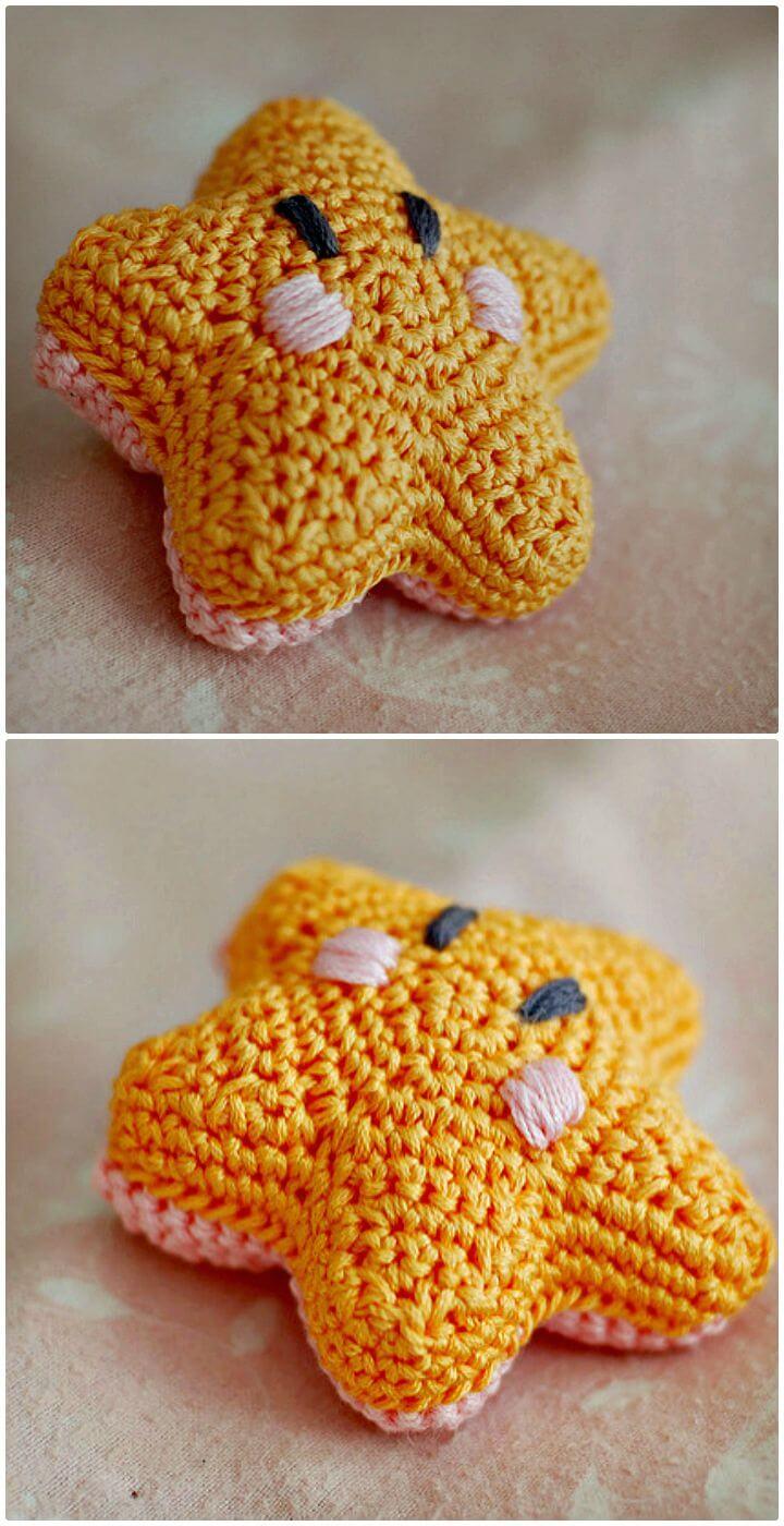Crochet la estrella de mar más tímida - patrón gratuito
