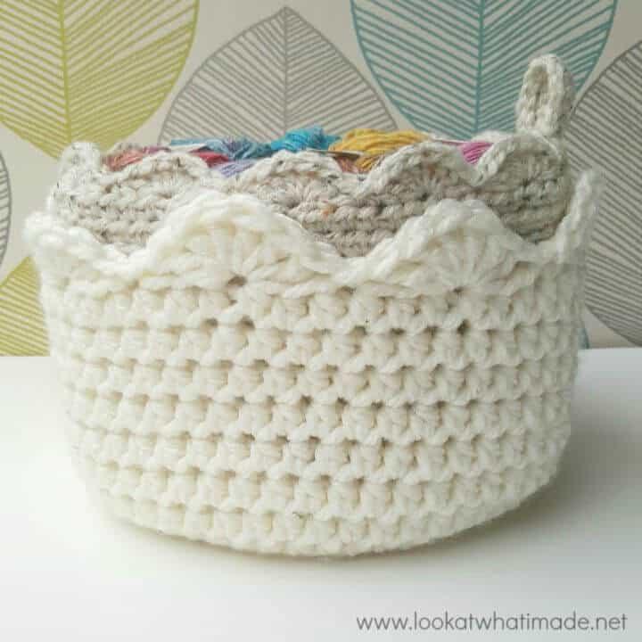 Toque de vieira a crochet gratis - Patrón de canasta