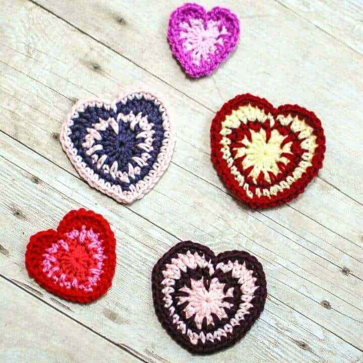 How To Crochet Valentine's Spike Stitch Heart - Free Pattern