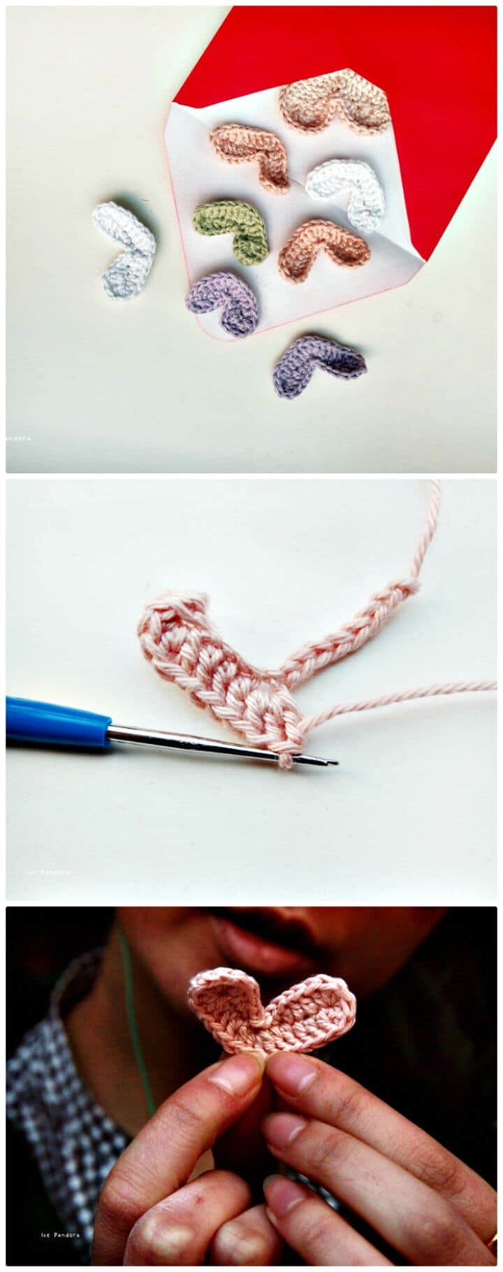 Crochet Wide Hearts - Valentine's Day Free Pattern