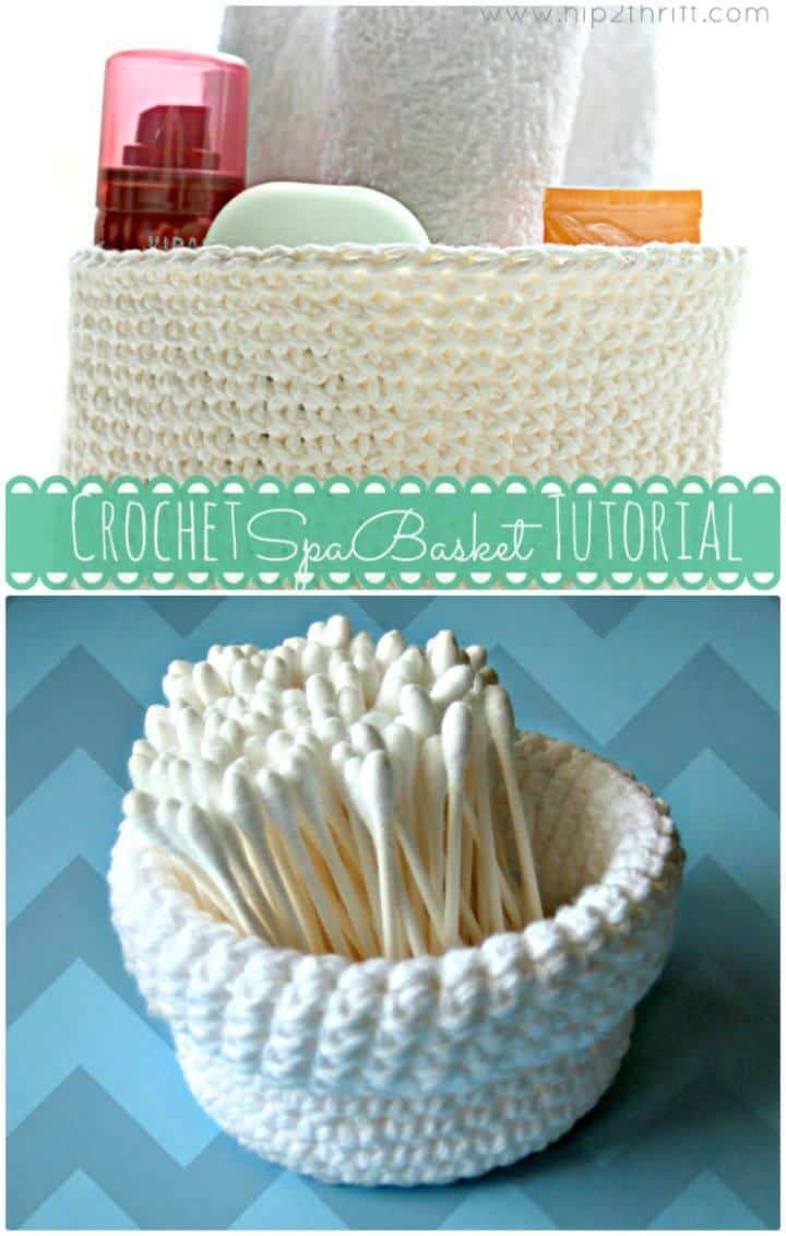 Patrón de canasta de spa a crochet gratis