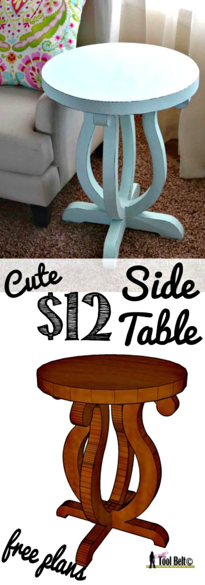 Tutorial de mesa auxiliar con curvas de bricolaje por menos de 12 $