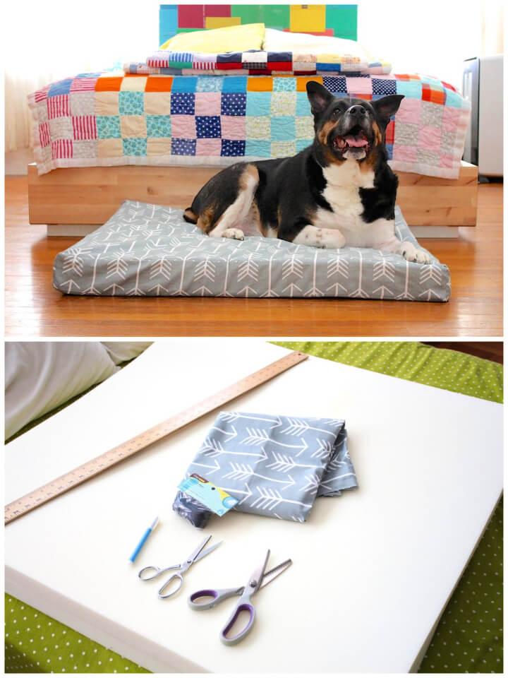 Patrón de costura de cama de perro personalizado