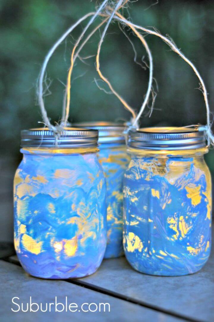Cómo hacer linternas de tarro de cristal bonitas