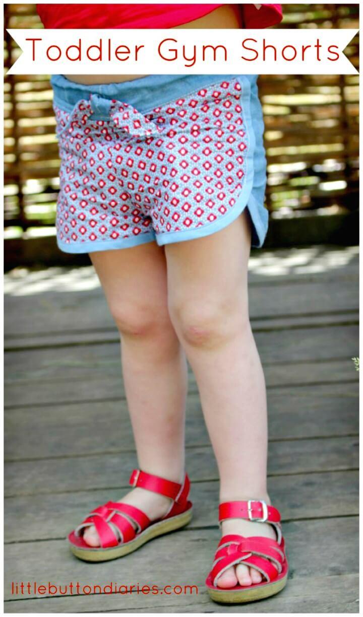 Lindos pantalones cortos de gimnasia para niños pequeños de bricolaje