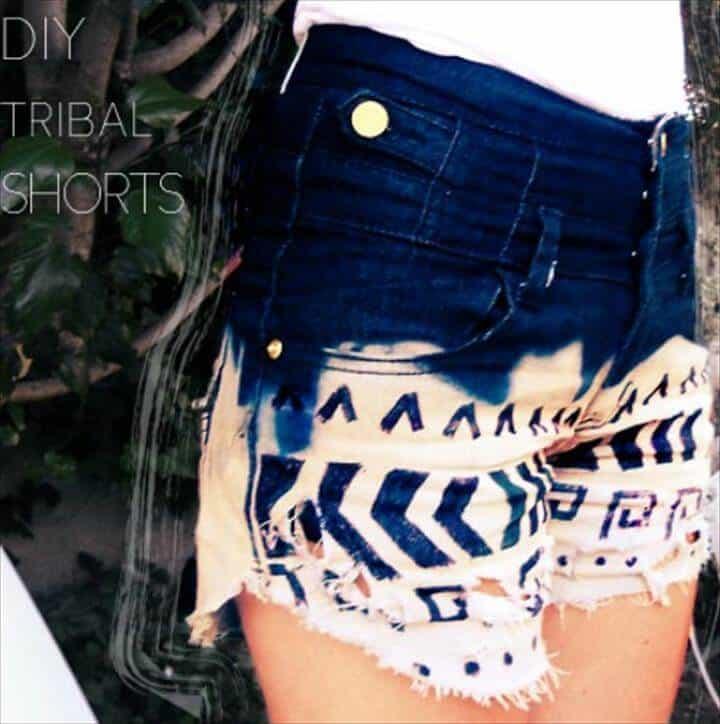 Shorts tribales de bricolaje para niñas