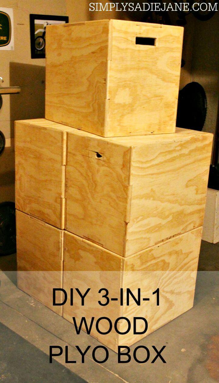 Caja de madera plyo DIY 3 en 1 por $ 35