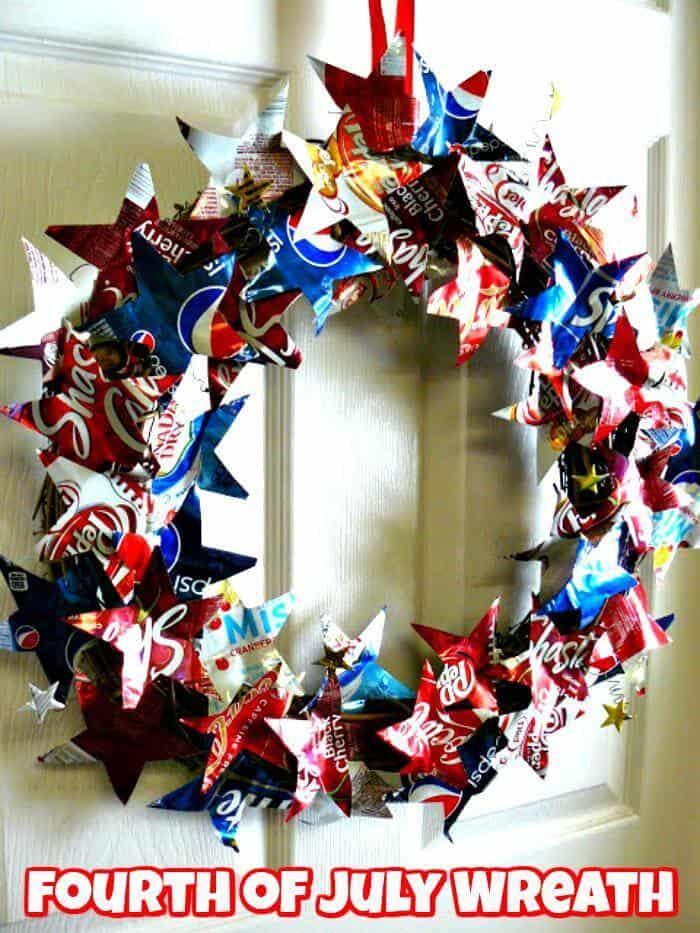 Guirnalda de bricolaje del 4 de julio - Corona patriótica
