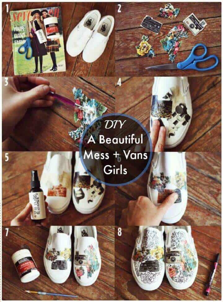 DIY A Beautiful Mess + Vans Girls