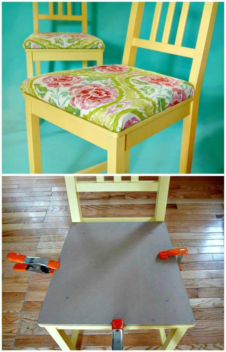 Cómo agregar cojines tapizados a las sillas - Tutorial gratuito