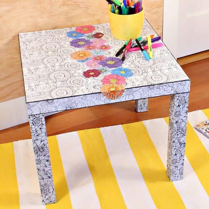 Libro de colorear para adultos DIY Ikea Hack