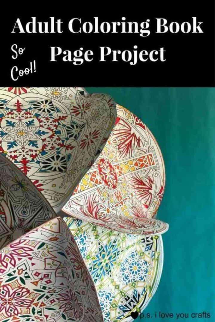 Proyecto de libro de colorear para adultos DIY