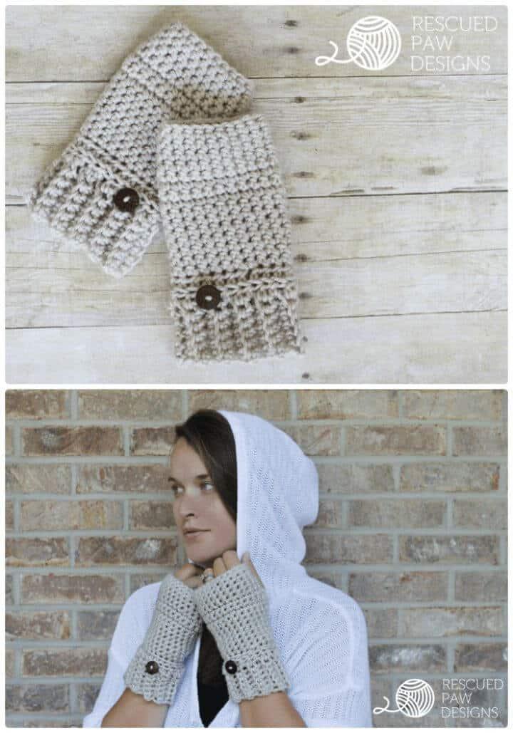 Patrón de calentadores de manos de ganchillo Andy Crochet gratis
