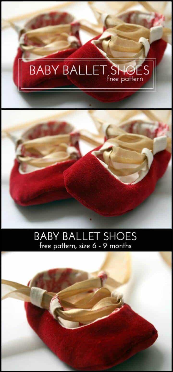 zapatos de ballet para bebé hechos a mano