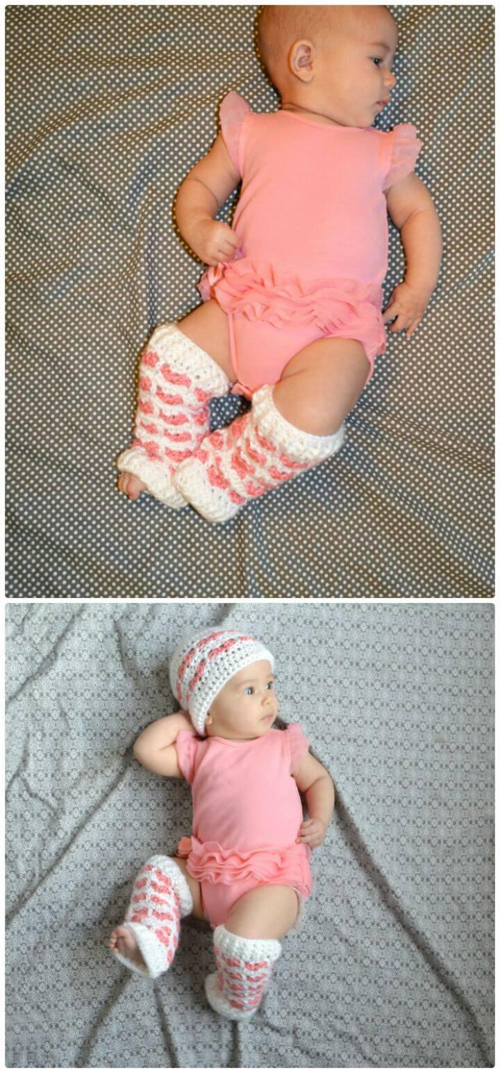Patrón de calentador de piernas de bebé de ganchillo gratis