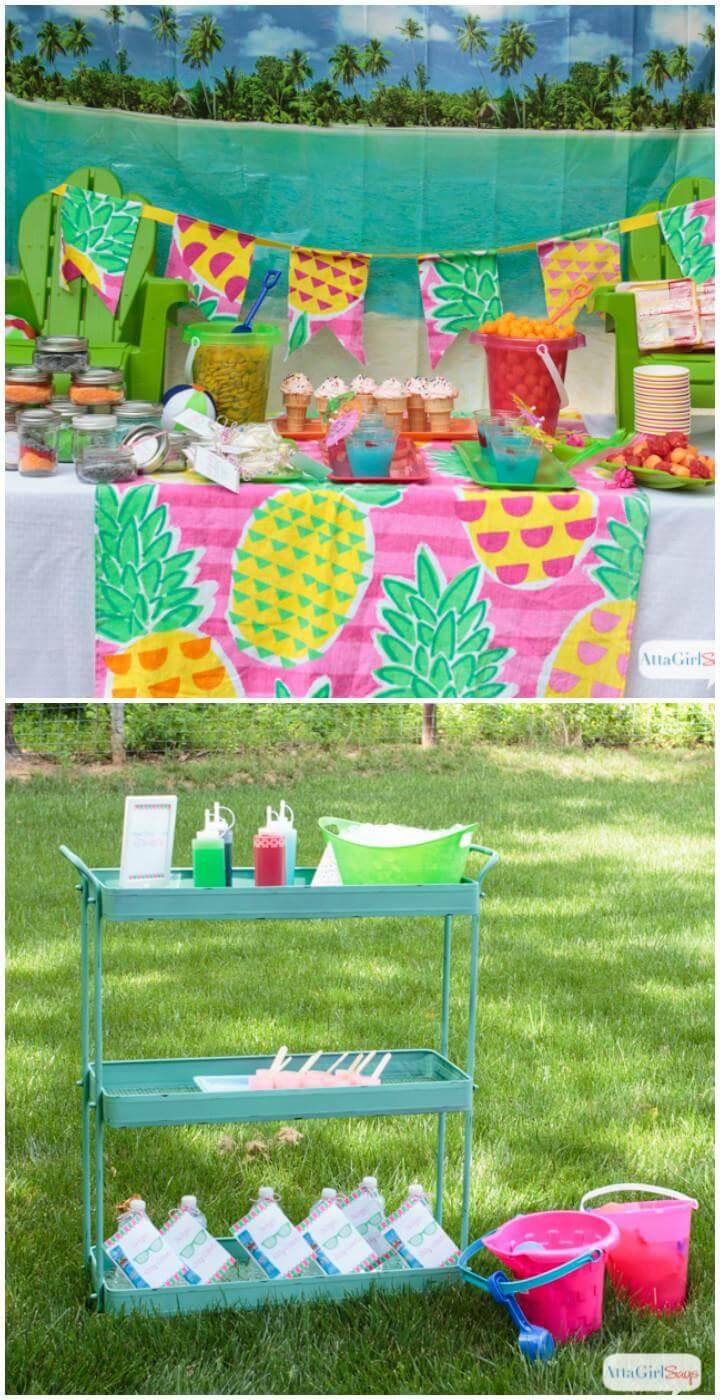 Idea de cumpleaños para adolescentes en el patio trasero de bricolaje