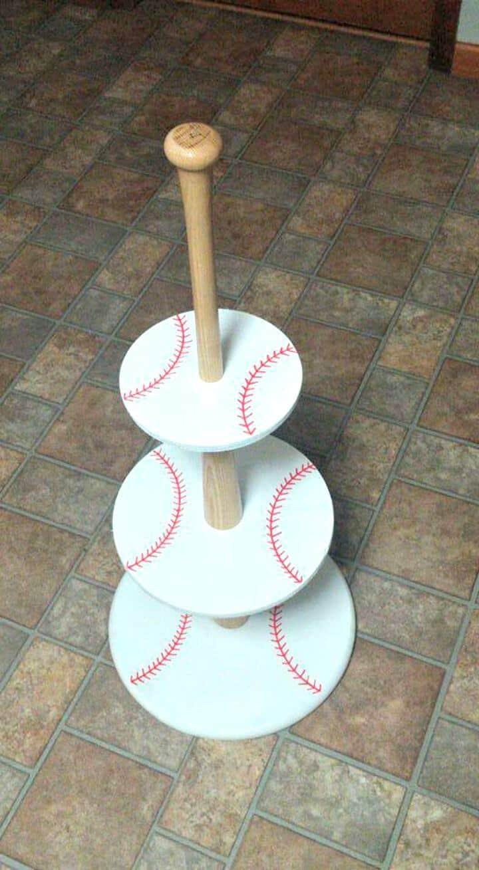 Soporte para cupcakes de béisbol de bricolaje